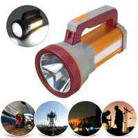 3000LM USB Rechargeble Super Bright LED Spotlight Waterproof Searchlight Torch Hiking LED Flashlight