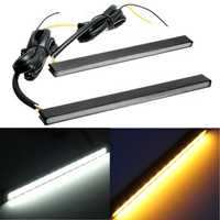Universal LED Driving Daytime Running DRL Turn Signal Light White Amber