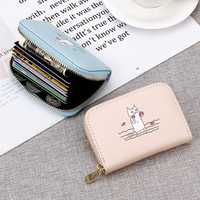 Women Cute Cartoon Pattern Multi-slots Card Holder Wallet