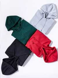 S-5XL Casual Women Hooded Fleece Short Sweatshirts