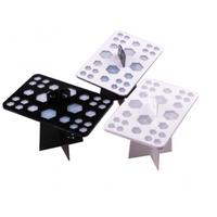 26 Holes Makeup Brush Drying Rack Dry Nail Brush Holder Plastic
