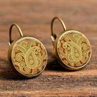 Retro Round Drop Earrings