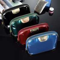 Shell Storage Makeup Bag Waterproof Travel Comestic Handbags Zipper Phone Coin Bags PU Leather
