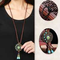 Ethnic Round Tassels Necklace