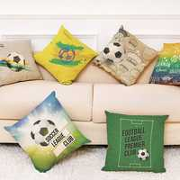 Honana The 2018 Russia World Cup Cotton Linen Cushion Pillow Case Soccer Pillow Covers for Home Decor