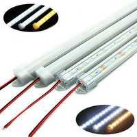 50CM SMD 5730 36 LED Rigid Strip Tube Bar Light Lamp With U Aluminium Shell + PC Cover DC12V