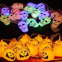 Halloween Ghost Pumpkin Colorful String Lights Garden Courtyard Haunted House Bar Holiday Decoration