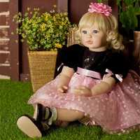 NPK Reborn Doll High-end Vinyl Silicone Toy Collection Princess Doll Birthday Holiday Gift Bedtime Playmates