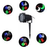 LED Garden Decorative Light Landscape Lighting with 10 Exclusive Design Slides and Remote Control
