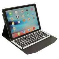 Undetachable Aluminum Alloy bluetooth 3.0 Keyboard PU Leather Kickstand Case For iPad Pro 12.9
