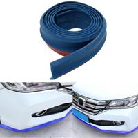 6.5X250cm Universal Car Front Lip Bumper Splitter Chin Spoiler Skirt Rubber Protector Body Kit