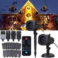 12 Patterns 4W LED Remote Projector Stage Light Moving Laser Spotlightt for Christmas Halloween