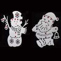 50x40cm Santa Claus Snowman Window Decals Christmas Decoration Christmas Tree Pendant Ornament