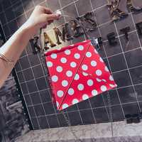 Women Faux Leather Wave Point Designer Handbag Crossbody Bag