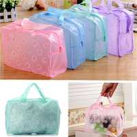 Transparent Printed Floral Bathing Cosmetic Waterproof Bag