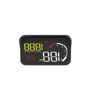M10 Car Head Up Display HUD OBDII Fatigue Driving Reminder Speed Alarm Navigation Projector