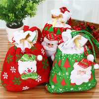 Christmas Gift Bag For Candy Christmas Gift Bags Christmas Ornament Decoration Santa Claus