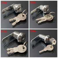 16/20/25/30mm Cam Lock Door Cabinet Mail Post Box Drawer Cupboard Locker 2 Keys
