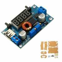 DC 5-36V to DC 1.25-32V 5A Constant Voltage Constant Current Step Down Power Supply Module with Display and Shell
