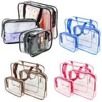 Portable Clear PVC Organizer Bags Makeup Travel Waterproof Toiletry