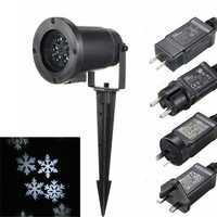 Waterproof Moving White Snowflake Laser Projector Stage Light Christmas Outdoor Landscape Lamp