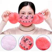 Women Warm Cotton Plus Velvet Cycling Face Mask