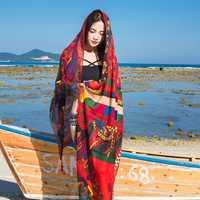 Women Summer Sunshade Silk Beach Scarves