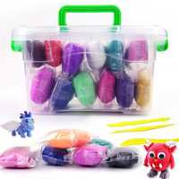 12pcs Paper Clay Modelling Clay Light DIY Soft Creative Handgum Plasticine Learning Toys With Box