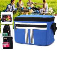 5L Picnic Bag Thermal Cooler Insulated Lunch Bag Food Container Pouch Outdoor Camping