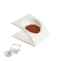 Ceramic Pet Bowl for Food and Water Bowls Pet Feeders Double Bowls Set with Ceramic Stand