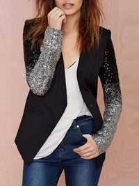 Women Work Style Autumn Sequin Blazers