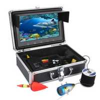 9 inch LCD Monitor Fish Finder Infrared Lamp Underwater Fishing Video HD 1000TVL Camera