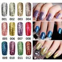 12 Colors Bright Diamond-sliver Glitter Micro Grain Nail Art UV Gel Polish Gorgeous Soak Off