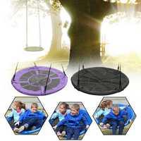Outdoor Yard Garden φ40inch Children Kids Large Seat Round Tree Swing Hammock Chair Indoor