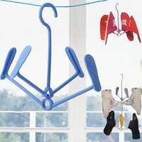2018 Plastic Shoe Clothes Socks Shorts Underwear Drying Rack Hanger Hook