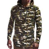 Men's Fashion Cotton Drawstring Pullover Hooded Sweatshirt
