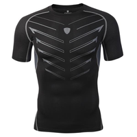 Tights Training Sports Fitness Jogging Wicking Short Sleeve