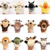 Cute Cartoon Animal Doll Children Kid Gloves Hand Puppet Fingers Velour Soft Plush Speaking Story Telling Toys