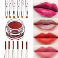 3 In 1 Lip Cream Eye Liner Pencil Eyeshadow Brush Makeup Tool 6 Colors to Choose