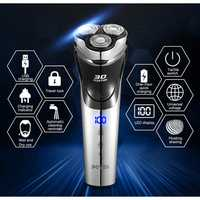 POVOS PW826 USB Charge Rechargeable Electric Shaver for Men