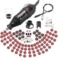 Rotary Tool Kit 100pcs Accessories Attachments Variable Speed Mini Electric Grinder Drill Set