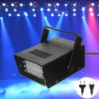 Mini 24LED Blue Flashing Strobe Party Stage Light Disco Club DJ Effect Lighting AC220V