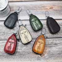 Men And Women Genuine Leather Leisure Retro Key Bag Car Key Holder