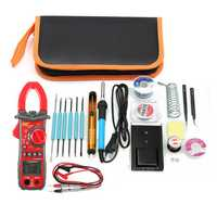 220V 60W Adjustable Temperature Welding Solder Iron Tool Kit + UA2008A Multimeter