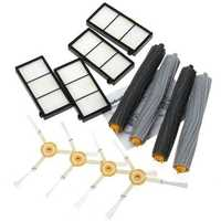 12Pcs Extractor Brus Filter Kit for iRobot Roomba 800 Series 870 880 Cleaner SET Spare Parts