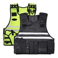 Tactic Security Vest Reflective Jacket Security Waistcoat Yellow / Black