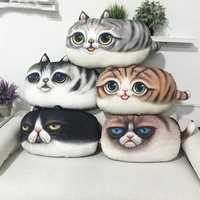 3D Creative PP Cotton Cute Cat Plush Pillow Backrest Printing Cushion Birthday Gift Trick Toys