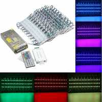 RGB SMD5050 LED Module Store Strip Light Front Window Lamp + Power Supply + Remote DC12V