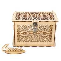 Wooden Wedding Card Box Collection Gift Card Post Boxes Weddings Decor With Lock