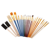 Zhuting 2501 25Pcs Multi-function Nylon Practical Writing Brush Set